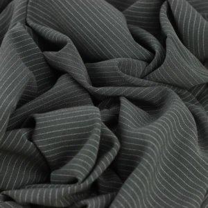 "Gabardine ""Rayure tennis gris Anthracite"" © Eyrelles tissus"