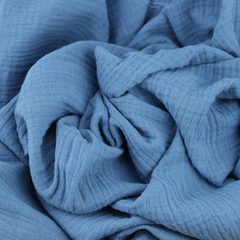Double Gaze tissus ange bleu eyrelles tissus