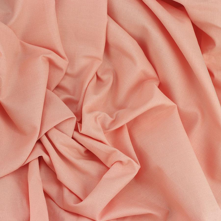 "Fil De Peche Rose coton uni ""emma - rose pêche"""