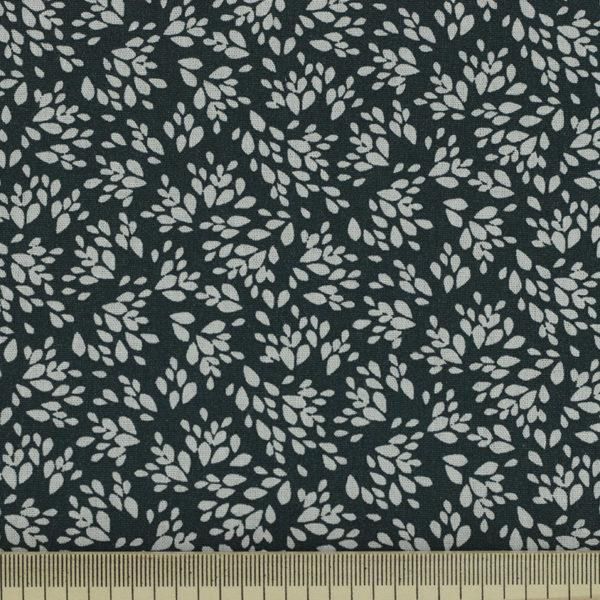 Tissu coton imprimé popeline Jenna Noir © Eyrelles Tissus