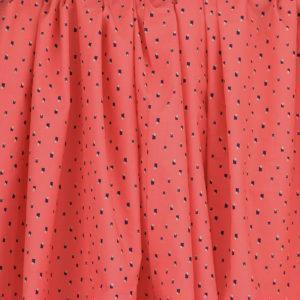 Tissu batiste coton imprimé Minimaliste Rose Corail © Eyrelles Tissus