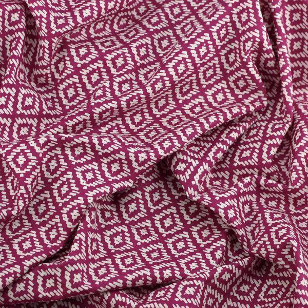 Tissu batiste coton imprimé Ethnic prune © Eyrelles Tissus