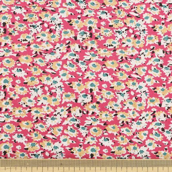 Tissu batiste coton imprimé Pink Bouquet © Eyrelles Tissus