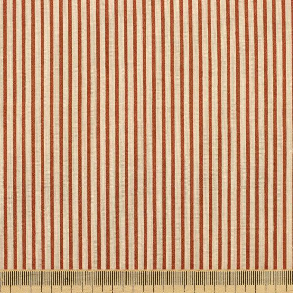 Tissu batiste coton imprimé Rayure Camel © Eyrelles Tissus