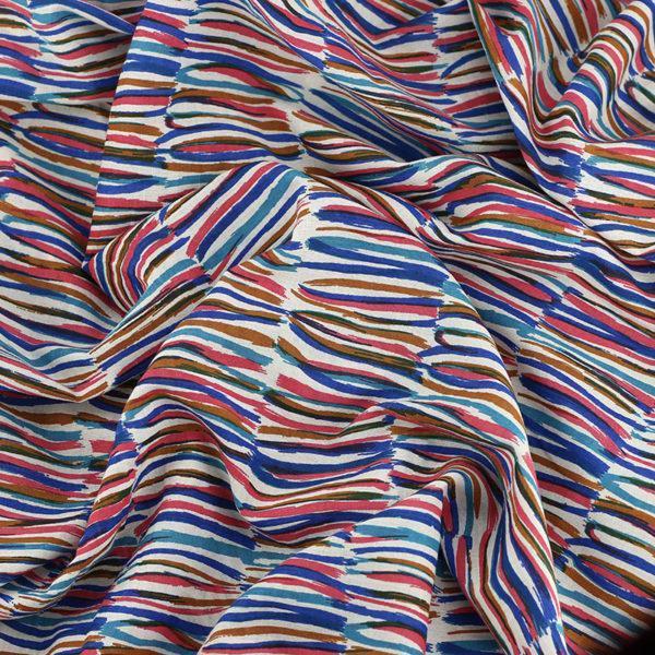 Tissu batiste coton imprimé Arty © Eyrelles Tissus