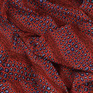 tissu wax africain hitarget motif Chari rouge © Eyrelles Tissus