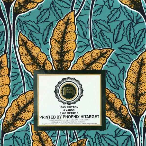 tissu wax africain hitarget motif Medjerda jaune et vert© Eyrelles Tissus