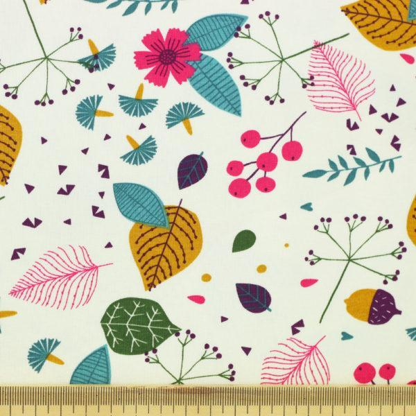 Tissu Jersey de coton demi-saison blanc © Eyrelles Tissus