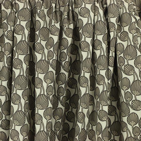 Tissu coton imprimé Akena Beige © Eyrelles Tissus