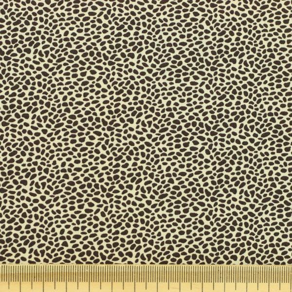 Tissu coton imprimé popeline Panthère beige © Eyrelles Tissus