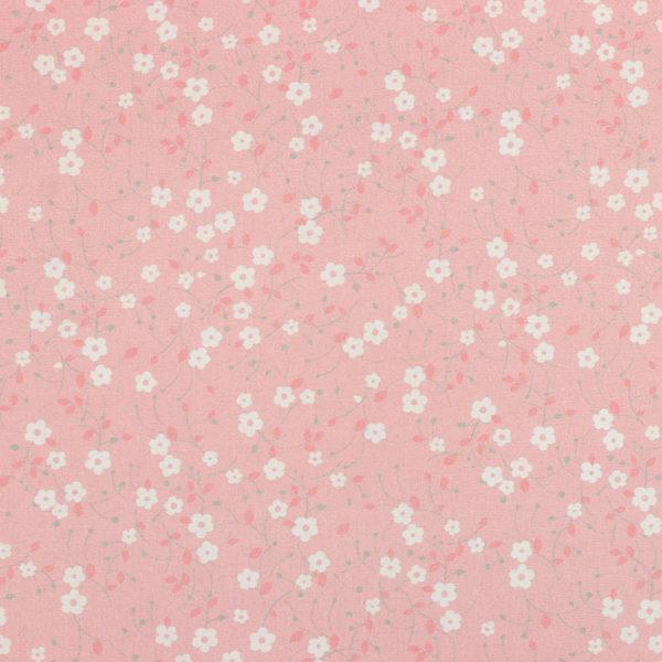 Tissu coton imprimé Prairie rose © Eyrelles Tissus