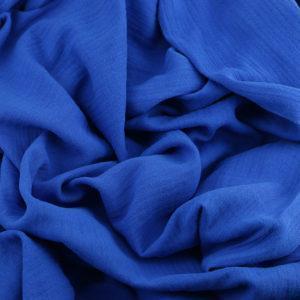 Tissus Double Gaze Ange bleu roi © Eyrelles Tissus