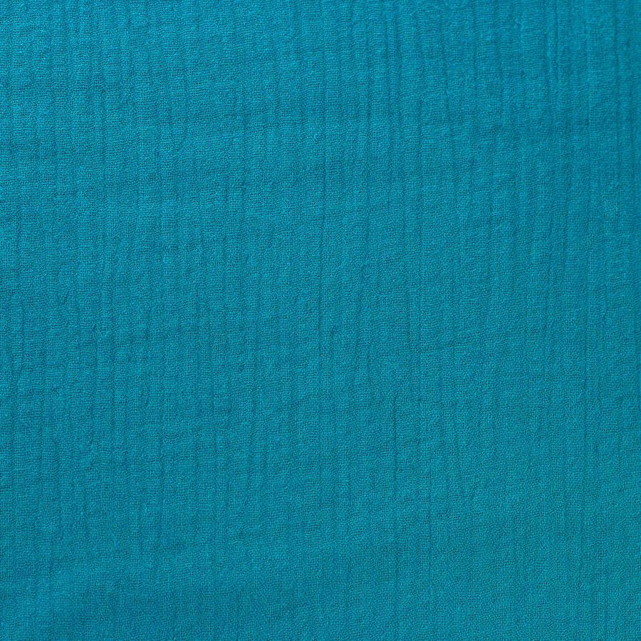 Tissus Double Gaze Ange bleu canard © Eyrelles Tissus