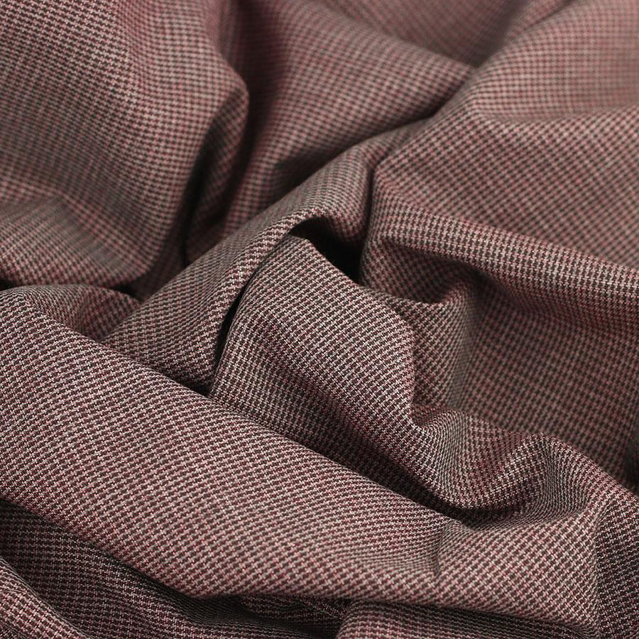 Tissus Pied de Poule Auguste rouge © Eyrelles Tissus
