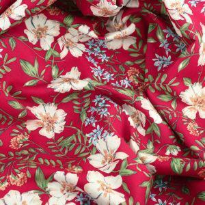 Tissu coton imprimé Paola Rouge © Eyrelles Tissus