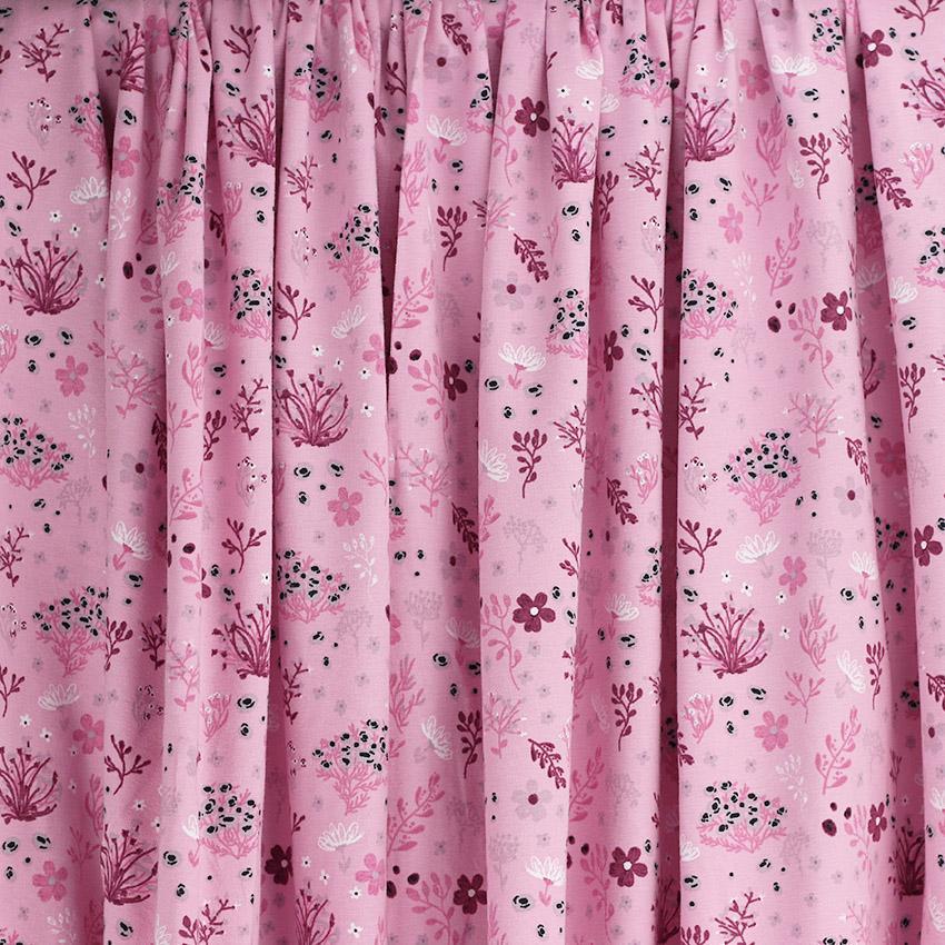Tissus Jersey coton oeko tex kimi rose © Eyrelles Tissus