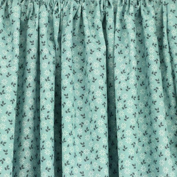 Tissu coton imprimé oeko tex fleuri Mezzo Bleu © Eyrelles Tissus