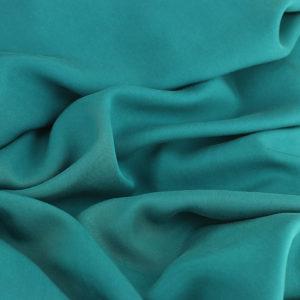 Tissus Tencel Edward Vert Paon © Eyrelles Tissus