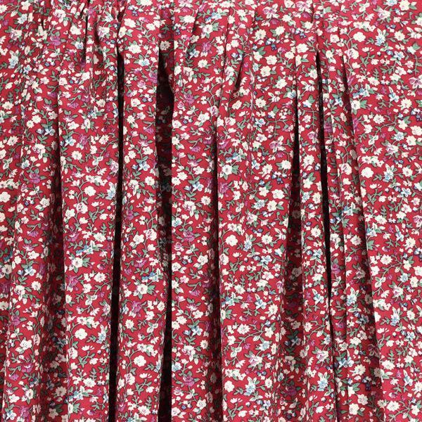 Tissu coton imprimé oeko tex fleuri Leïa Rouge © Eyrelles Tissus