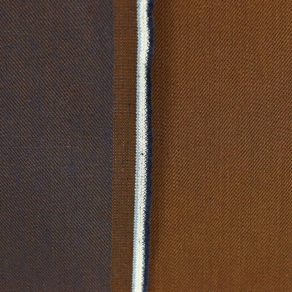 Tissu jeans denim Karl Camel © Eyrelles Tissus