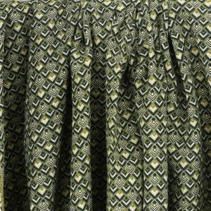 Tissu Jacquard Nazca Vert © Eyrelles Tissus
