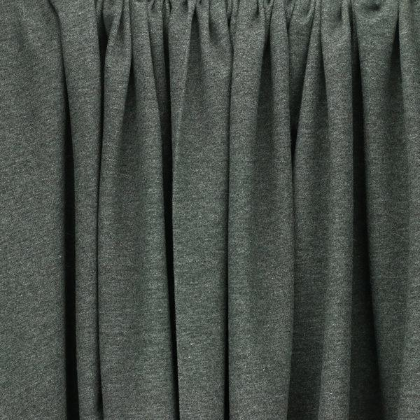 tissus Sweat brossé molleton léon Gris Anthracite © Eyrelles Tissus