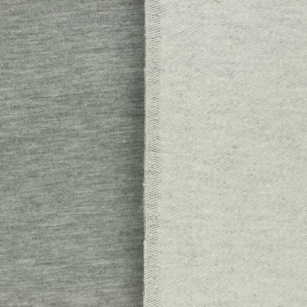 tissus Sweat brossé molleton léon Gris © Eyrelles Tissus