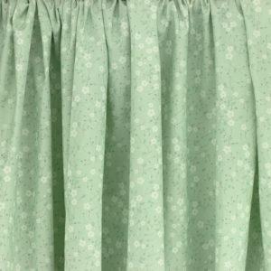 Tissu coton imprimé Prairie Vert © Eyrelles Tissus