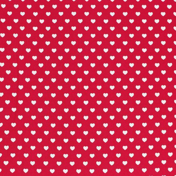 Tissu coton imprimé Cœur Rouge © Eyrelles Tissus