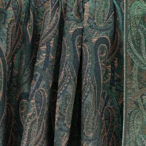 Tissu Jacquard Paisley bleu © Eyrelles Tissus