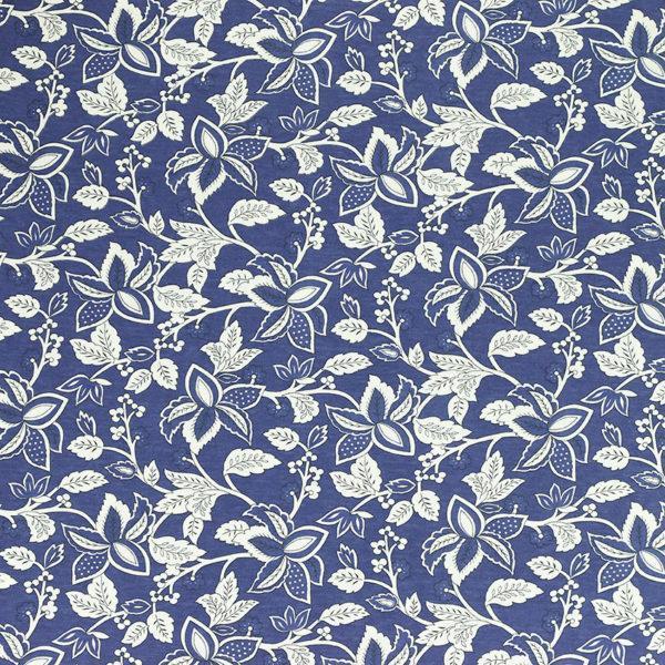 Tissus Jersey coton imprimé Alba Bleu © Eyrelles Tissus