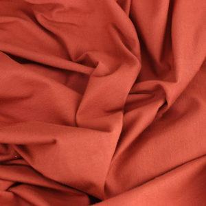 jersey coton Oeko-Tex tissus léa Brique © Eyrelles tissus