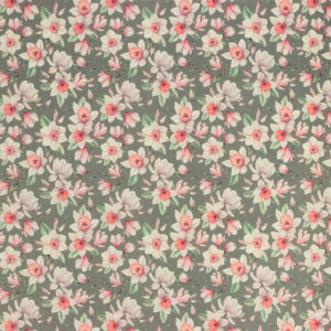 """Tissus Toile enduite polycoton """"Jonquille - Rose"""" l © Eyrelles tissus"""