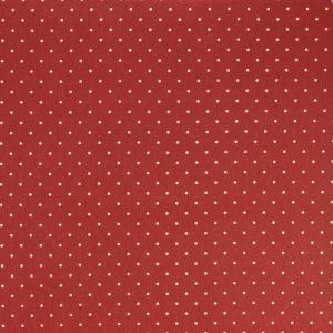"""Tissus Toile enduite polycoton """"Pois - Rouge"""" l © Eyrelles tissus"""