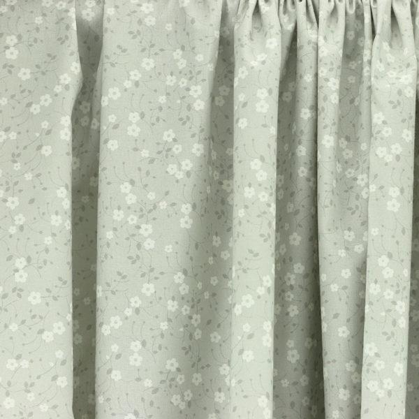Tissu coton imprimé Prairie Gris © Eyrelles Tissus