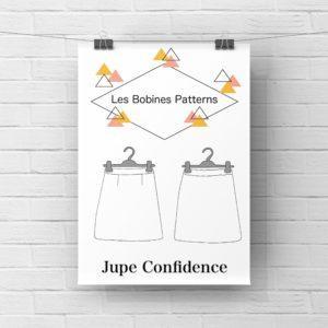 """Patron Jupe """"Confidence"""" Les Bobines Patterns © Eyrelles Tissus"""