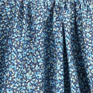 Tissu coton imprimé Baie Sauvage Bleu © Eyrelles Tissus