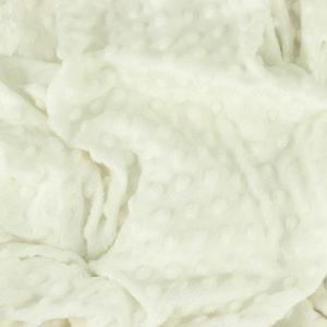 """Tissus Minky à pois """"Dolce - Blanc Cassé"""" © Eyrelles Tissus"""