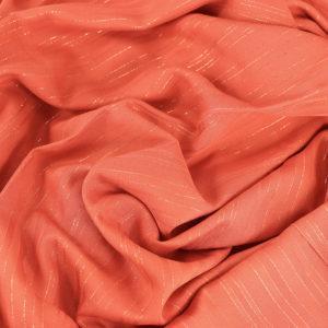 """Tissu Viscose Lurex """"Jane - Rose Corail"""" © Eyrelles Tissus"""