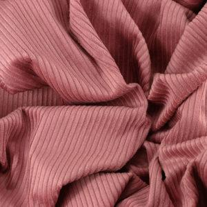 """Tissu velours côtelé """"Victor - Rose poudré"""" © Eyrelles Tissus"""