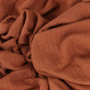 "Tissus Molleton ""Osange - Brique"" © Eyrelles Tissus"