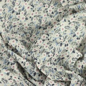 """Tissu coton imprimé """"Malak - Gris"""" © Eyrelles Tissus"""