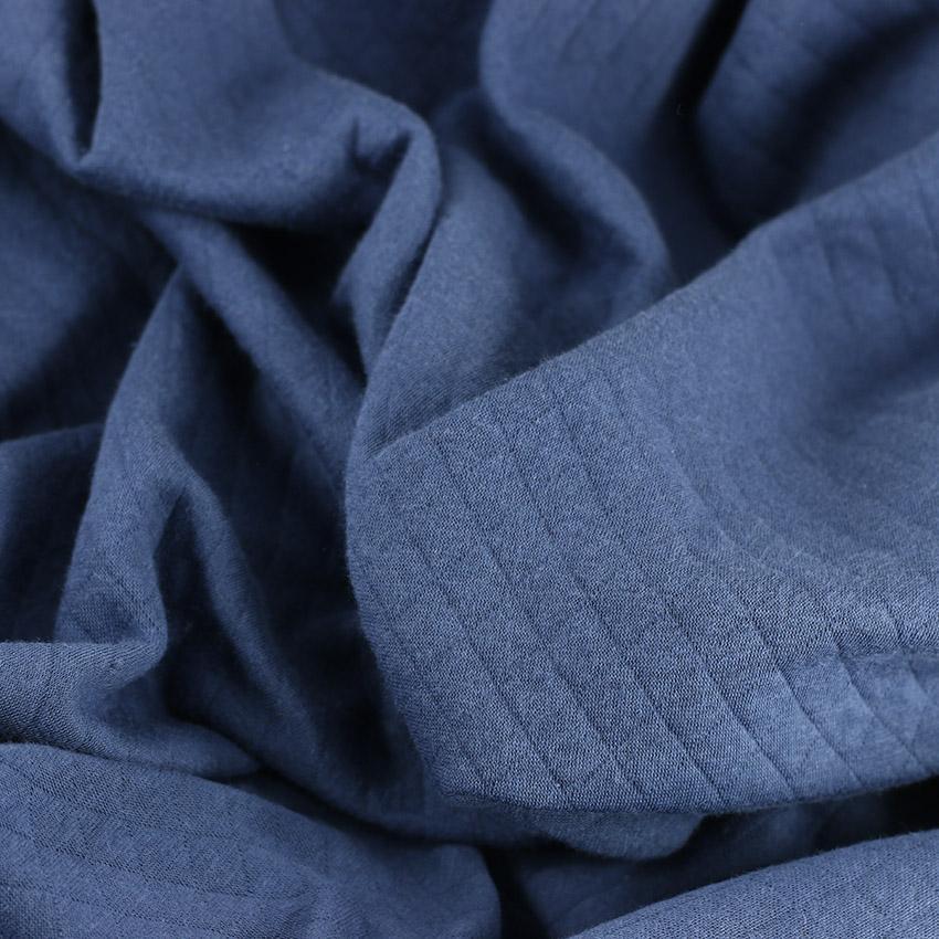 "Tissus Molleton ""Osange - Bleu"" © Eyrelles Tissus"