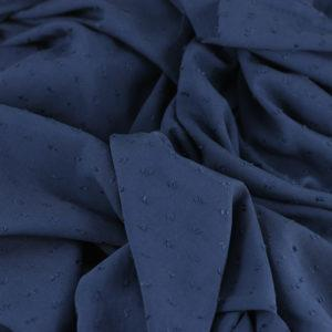 """Tissus Viscose """"Plumetis - Bleu Marine"""" © Eyrelles Tissus"""