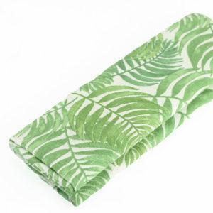 """Coupon toile imprimée motif """"Feuillage - Vert"""" © Eyrelles Tissus"""