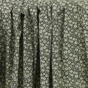 """Tissu coton imprimé """"Louisette - Noir"""" © Eyrelles Tissus"""