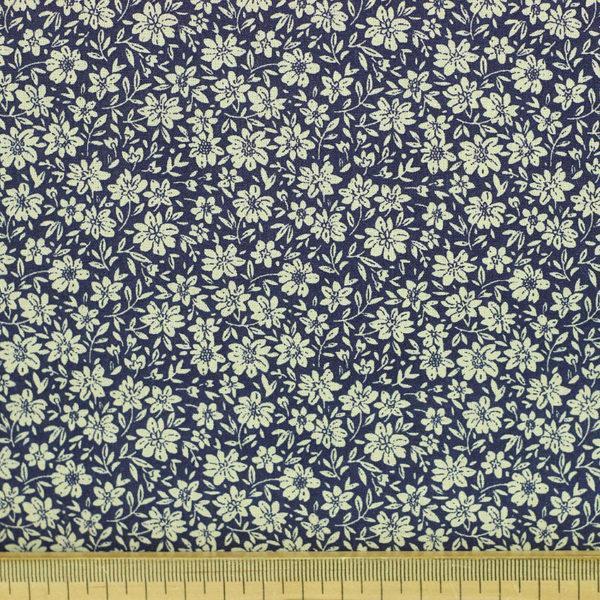 """Tissu coton imprimé """"Louisette - Bleu"""" © Eyrelles Tissus"""