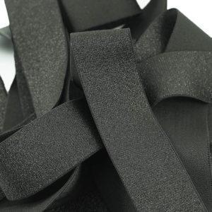 Mercerie élastique brillant Noir © Eyrelles Tissus