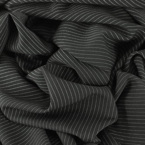 "Gabardine ""Rayure tennis noir"" © Eyrelles tissus"