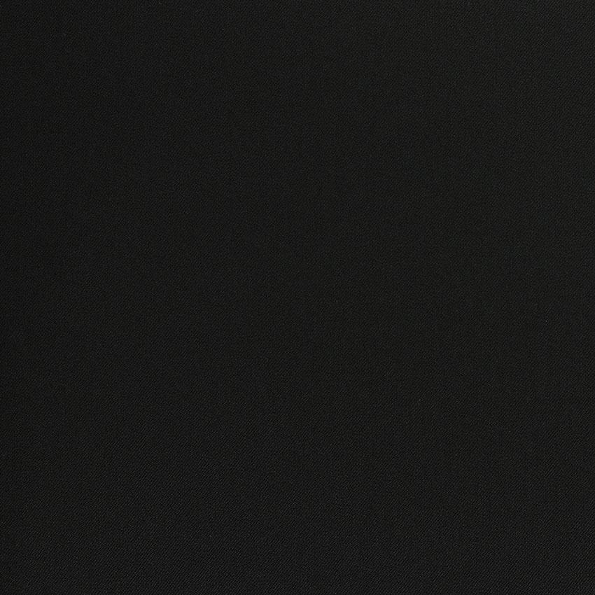 Sergé fluide poly-viscose basique noir © Eyrelles tissus